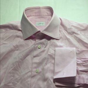 Ermenegildo Zegna light pink button up shirt 16.5